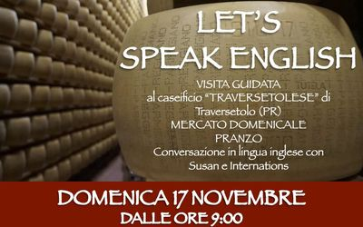 """Let's speak English"" al caseificio ""Traversetolese"""